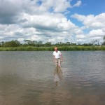 paddling in the Thames